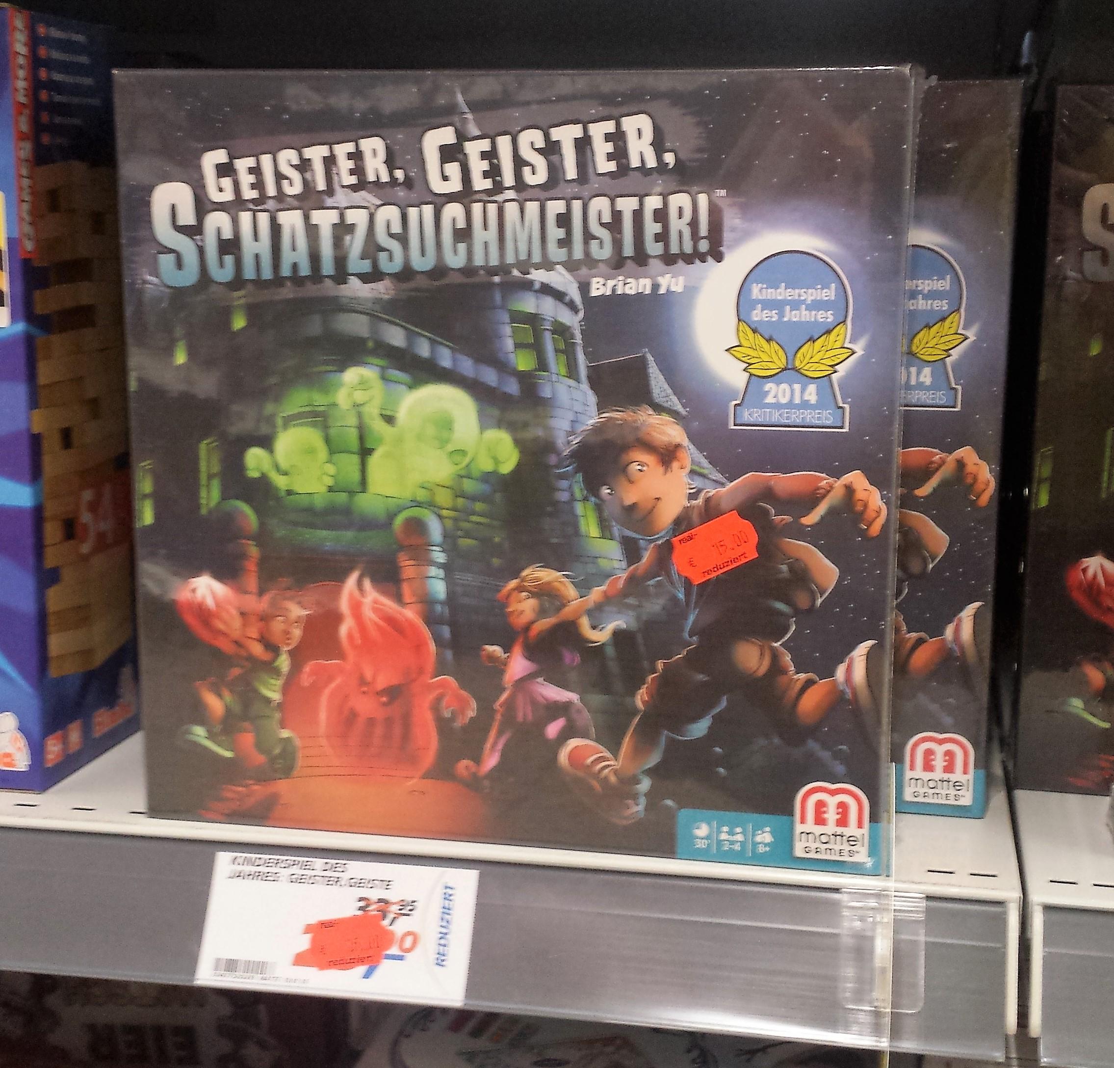 [Lokal? REAL Ravensburg] Kinderspiel des Jahres 2014: Geister, Geister Schatzsuchmeister