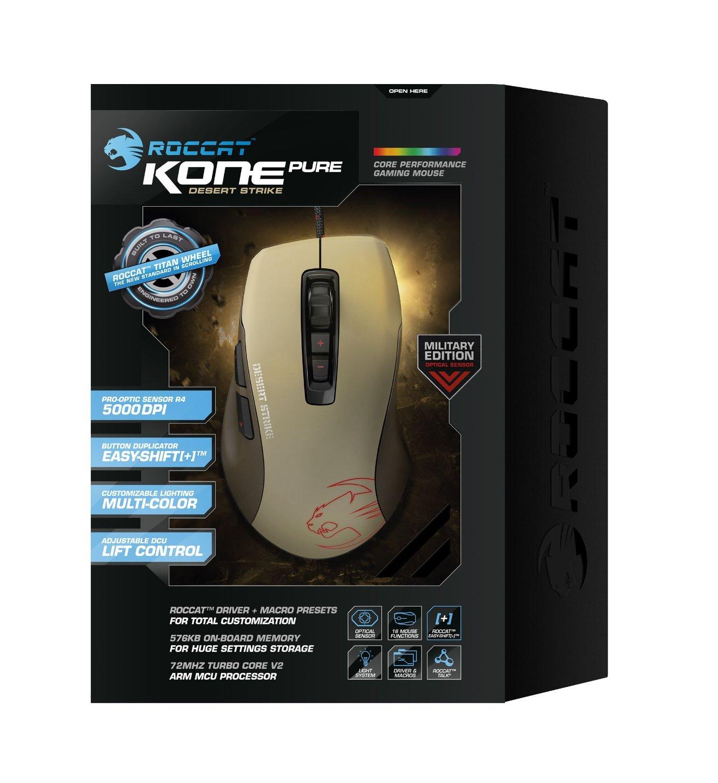 Roccat Kone Pure Military Desert Strike - Gaming-Maus (5000dpi, USB, 7 Tasten, LED-Sensor) [B-Ware] ab €23,95 [@Allyouneed.com]