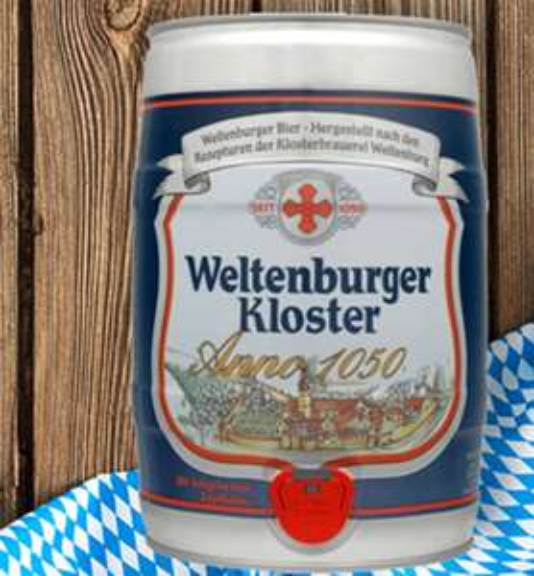 5 Liter Fass Weltenburger Kloster Anno 1050 gratis zu jeder Bestellung ab 39,99 € bei Voelkner