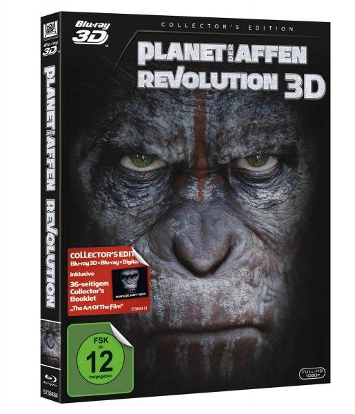 (Amazon Prime) Planet der Affen - Revolution [3D Blu-ray + Blu-ray + UV Copy + Booklet] [Collectors Edition] für 14,99€