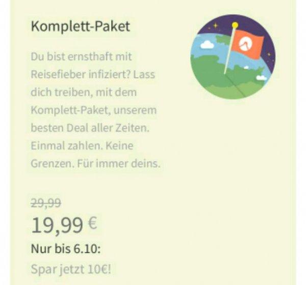 Komoot GPSNavigations-App Gesamte Weltkarte zu 19,99€