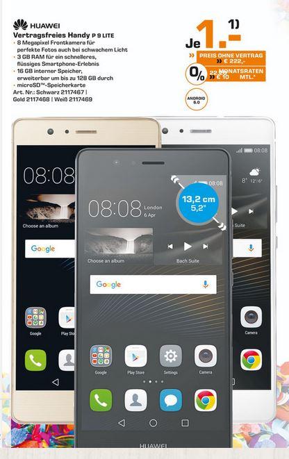 (Oberhausen Centro) Huawei P9 Lite für EUR 222,-