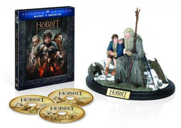 (Saturn) Hobbit - DIE SCHLACHT DER FÜNF HEERE (EXTENDED EDITION + FIGUR) - (3D BD&2D BD, BLU-RAY)