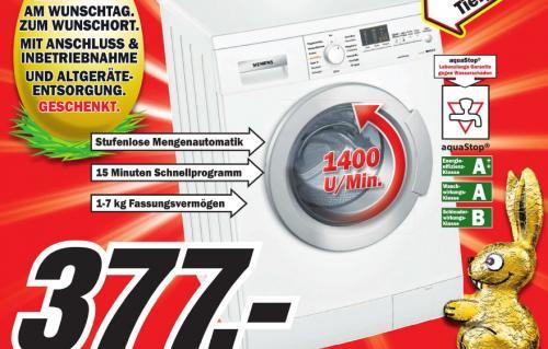 [Lokal] MM Weiterstadt - Siemens WM 14 E R4 Waschmaschine