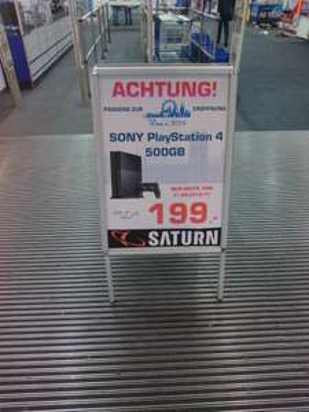 [Lokal Saturn München] PS4 500GB - 199€