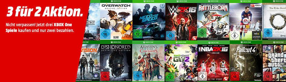 Mediamarkt Online Kaufe 3 für 2 zahle nur XBOXone-Spiele