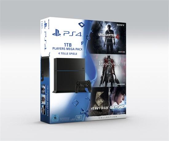 PS4 1TB für 259€ [Amazon] oder PS4 1TB + Uncharted 4 + Bloodborne + Heavy Rain / Beyond Two Souls (als Disc-Versionen) für 279,99€ [Gamestop]