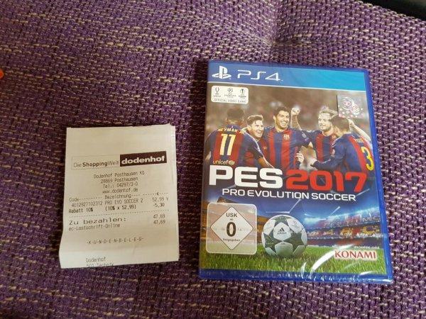 Pro Evolution Soccer 2017 für PS4 (Lokal Dodenhof)