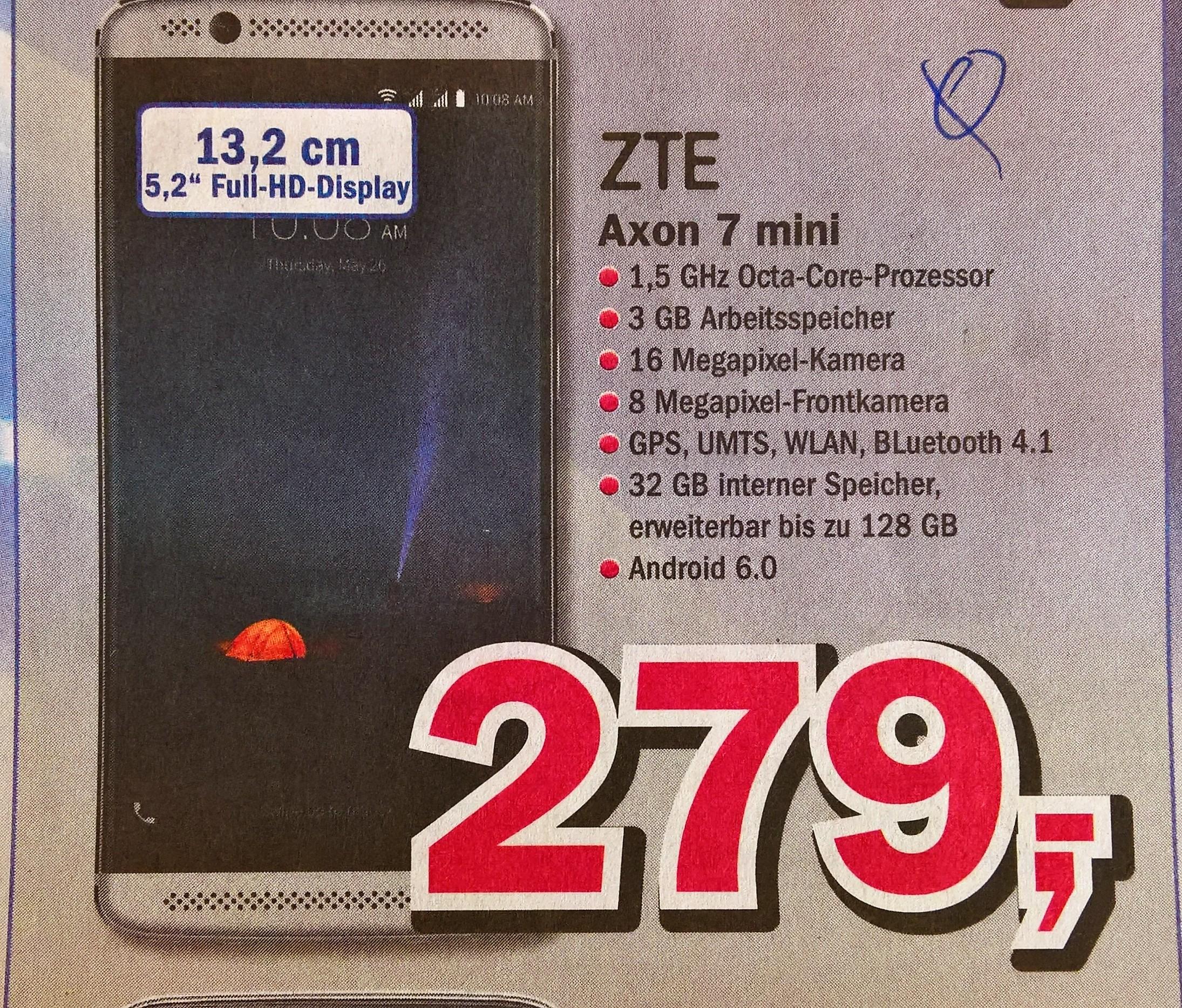 ZTE Axon 7 mini LTE Dual Sim, lokal Telepoint