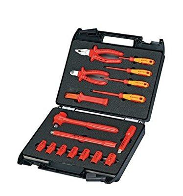 [Amazon] Knipex Werkzeugkoffer mit isolierten Werkzeugen 17tlg.