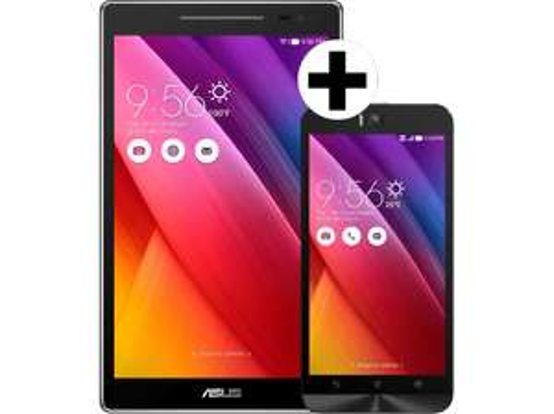 [Mediamarkt Österreich] ASUS ZenFone Selfie ZD551KL (90AZ00U1-M03390) + ZenPad 8.0 Z380C-1A038A, schwarz (90NP0221-M01320) für 296,-€ inc Versand nach Deutschland