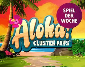 [Lottoland] 2 mal 10 Freispiele Aloha Cluster Pays