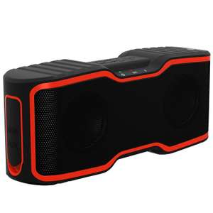 Wireless Bluetooth Lautsprecher, IP67, Outdoor Lautsprecher mit 10w Stereo Subwoofer, Bluetooth 4.0, (Orange) bei Amazon