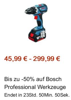 Bis zu 50% auf Bosch Professional Werkzeuge bei Amazon