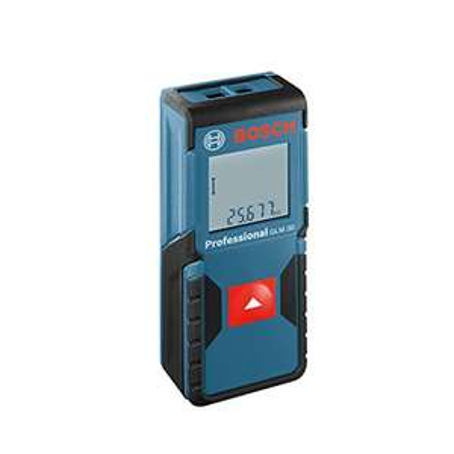 Bosch Professional Laser-Entfernungsmesser GLM 30, 0,15 - 30 m Messbereich, +/- 2 mm Messgenauigkeit, Herstellerzertifikat, Schutztasche, 2 x 1,5-V-LR03 (AAA) [Energieklasse A]