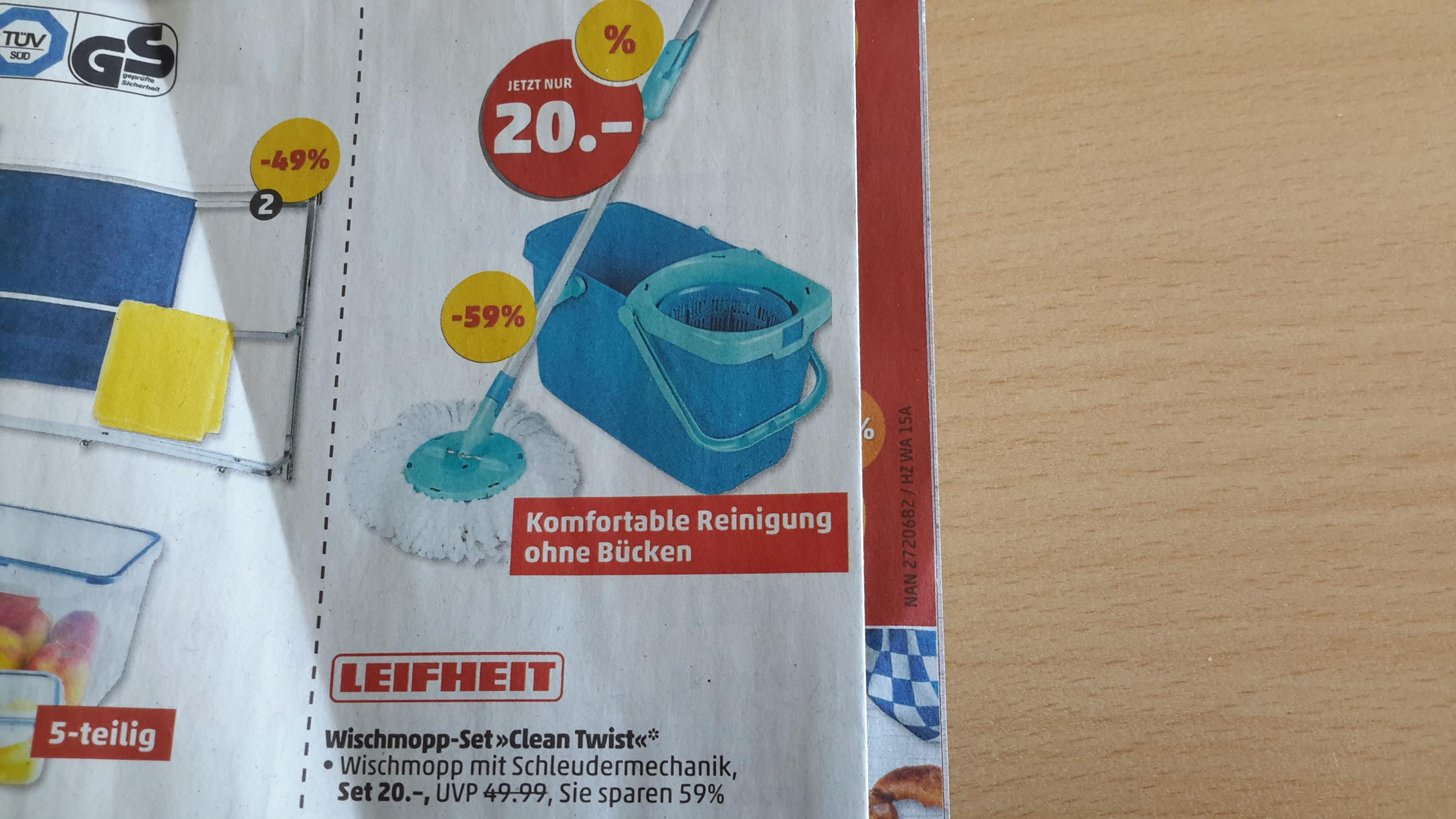 "Leifheit Wischmop-Set ""CleanTwist"" 52019 (offline bei Penny)"