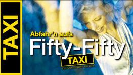 Fifty-Fifty-Taxi: Taxifahren zum 1/2 Preis für Jugendliche und junge Erwachsene
