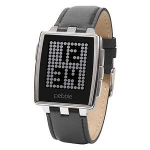 Pebble, Smartwatch Armbanduhr, Brushed Stainless Steel für 85 € > [yakodo.de]