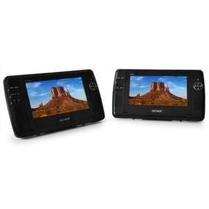 "DENVER 2 x 18cm (7"") TRAGBARER AUTO DVD CD MP3 PLAYER LCD DISPLAY USB SD AV 12V"