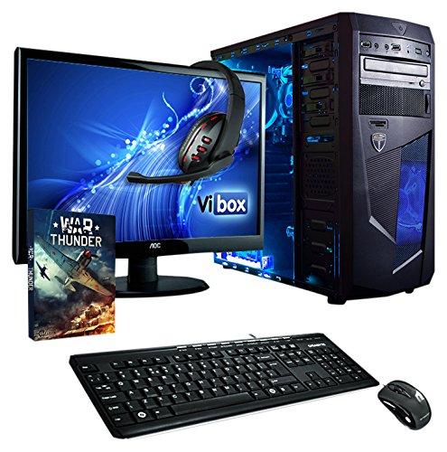 [Amazon] Vibox Komplett Gaming Desktop-PC PC,Monitor,Maus+Tastatur und Headset) (AMD A Series A4-6300, 8GB RAM, 1TB HDD, AMD Radeon HD 8370D, Win 10 Home) Idealo: 529,95