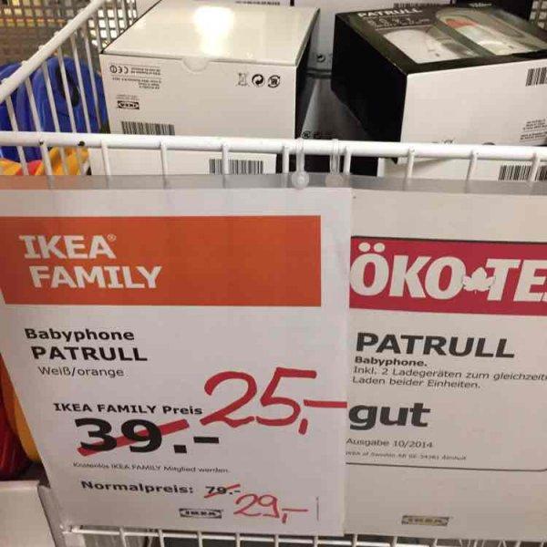 [IKEA Brinkum] Patrull Babyphone ohne Family 29€ / mit 25€