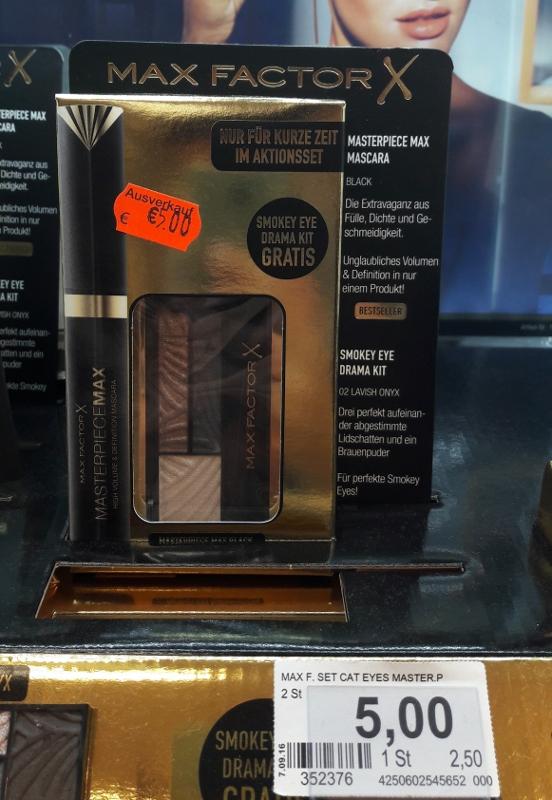 [Rossmann bundesweit] Max Factor Aktionsset Smokey Eye Drama Kit + Masterpiece Max Mascara geschenkt