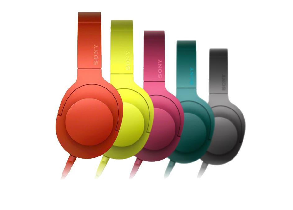 Kopfhörer SONY MDR-100AAP (gelb, rot)