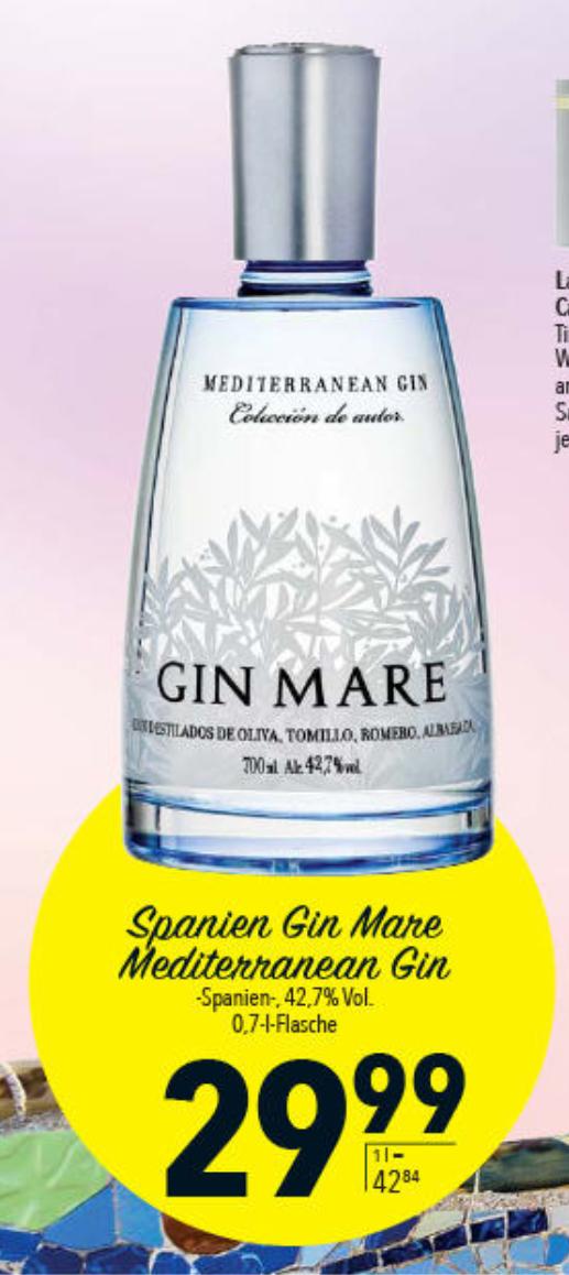 [Lokal Citti] Gin Mare Mediterranean 0,7l Gin aus Barcelona