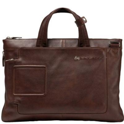 Piquadro Vibe Aktentasche: Dunkelbraun, Leder, 40cm für 167,00€ statt 269,00€ laut idealo [Styleshop 24]