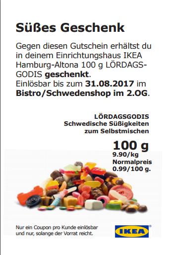 [IKEA HH-Altona] 100 g Süssigkeiten geschenkt