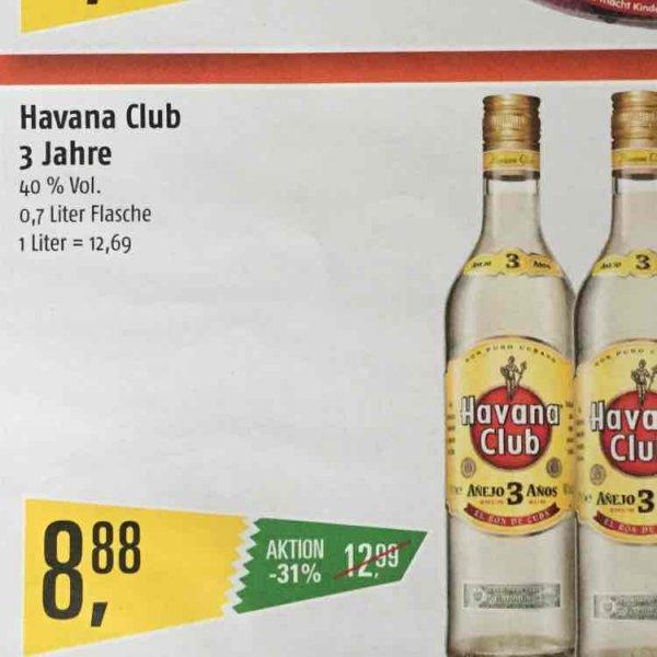 Havana Club 3 Jahre 0,7 L @ Marktkauf (Hamburg)