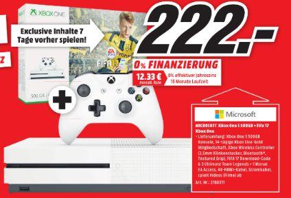 [Lokal] Microsoft Xbox One S 500 GB Weiß inklusive FIFA 17 für 222,-€ **Im Markt direkt kann sie weiterhin zu dem Preis bestellt werden** [Mediamarkt Rheine]