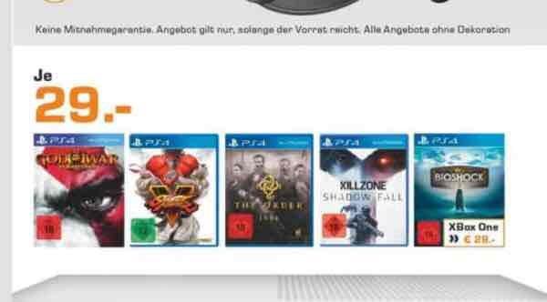 Saturn Hamburg - U.a Bioshock Collection (PS4/XBOX One) für 29€