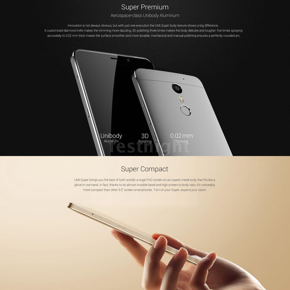 EBay.de: UMI Super Smartphone 4G Helio P10 Octa Core 5.5x27x27 Android 6.0 4GB+32GB Heiß X9M9 mit Versand aus Deutschland