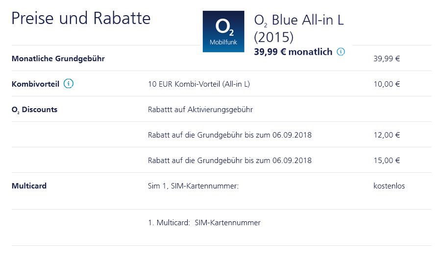 2x (!) Base O2 All-In L FLat, 4GB LTE, 1GB EU, ohne Datenautomatik