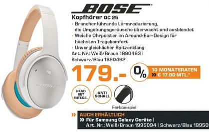 [Lokal Saturn Hamburg/Norderstedt] Bose QC 25 - 179 Euro