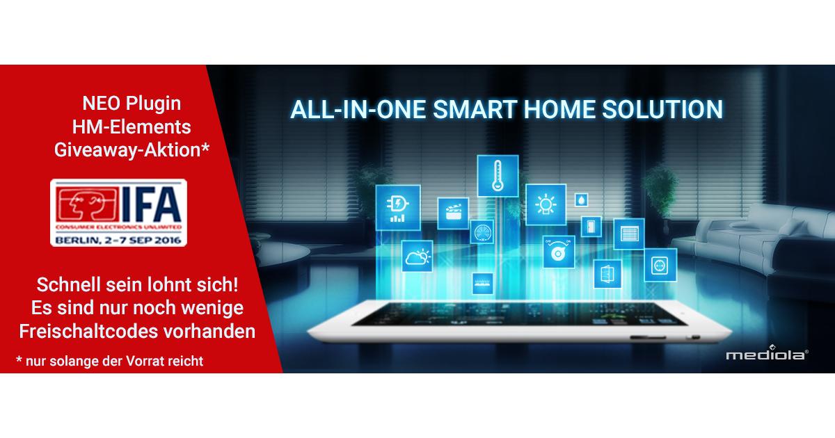 ? [UPDATE] Apres-IFA-Giveaway  HomeMatic CCU Plugin im Wert von 29,95 EUR GRATIS   nur noch wenige verfügbar  mediola AIO Creator NEO ?
