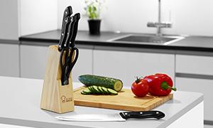 (Druckerzubehoer) - Messerblock mit 6 Küchenmessern für 8,96 €- Zettelbox und Kaffeebecher gratis