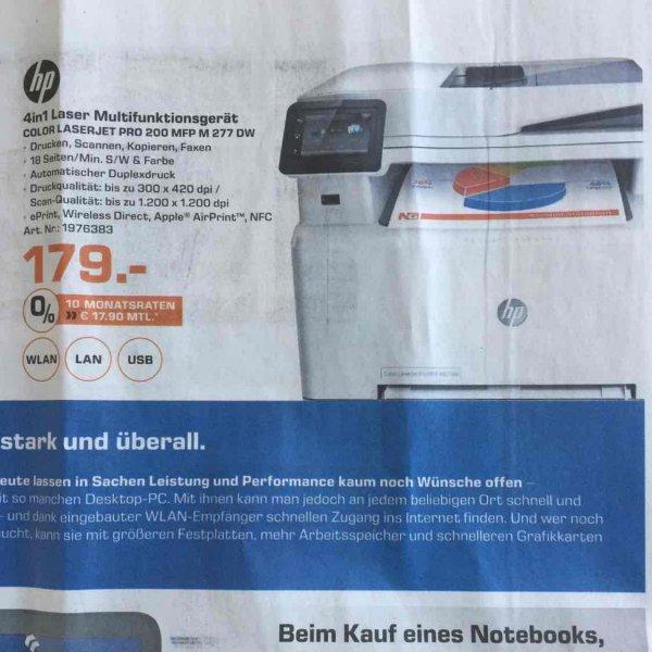 [LOKAL Saturn Hamburg] HP LaserJet Pro M277dw Multifunktionsdrucker