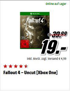 [Mediamarkt Outlet] Fallout 4 – Uncut [Xbox One] für 19,-€ Bei Abholung. PC Version für 15,-€
