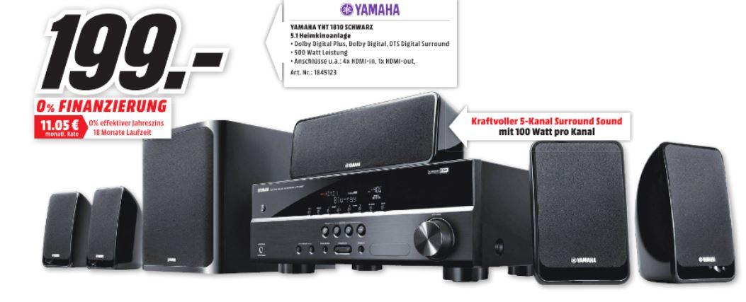 [lokal Rheine] MediaMarkt Yamaha YHT-1810 A/V-Receiver-5.1 Boxen-Bundel