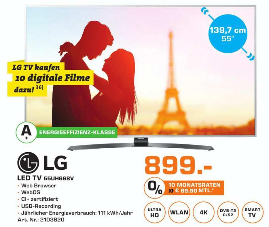 [Lokal Stuttgart Saturn]  LG 55UH668V LED SMART TV (55 Zoll, UHD 4K, HDR Pro)