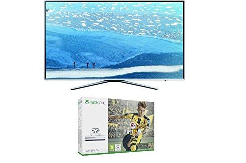Samsung UE55KU6409 55 Zoll Fernseher + Xbox One S 500GB Konsole + FIFA 17 @Amazon