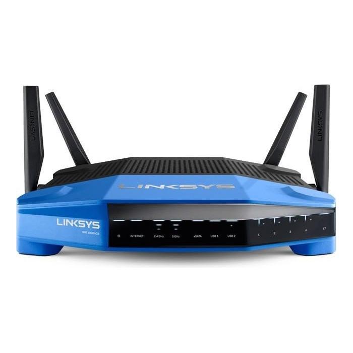 Linksys WRT1900ACS Dual-Band Wi-Fi Router (1900Mbit/s, MU-MIMO, OpenWRT, 4x Gigabit Lan, 1x USB 3.0, 1x eSata Smart WiFi app)