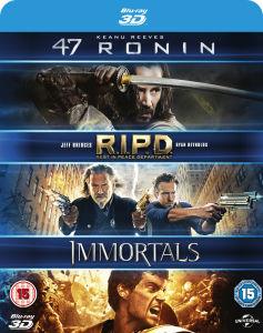 (Zavvi) 47 Ronin 3D / RIPD 3D / Immortals 3D Blu-ray mit deutscher Tonspur