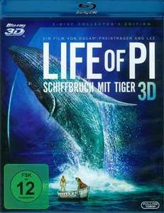 (CeDe) Life of Pi Collectors Edition (Blu-ray 3D + Blu-ray + DVD) für 14,99€