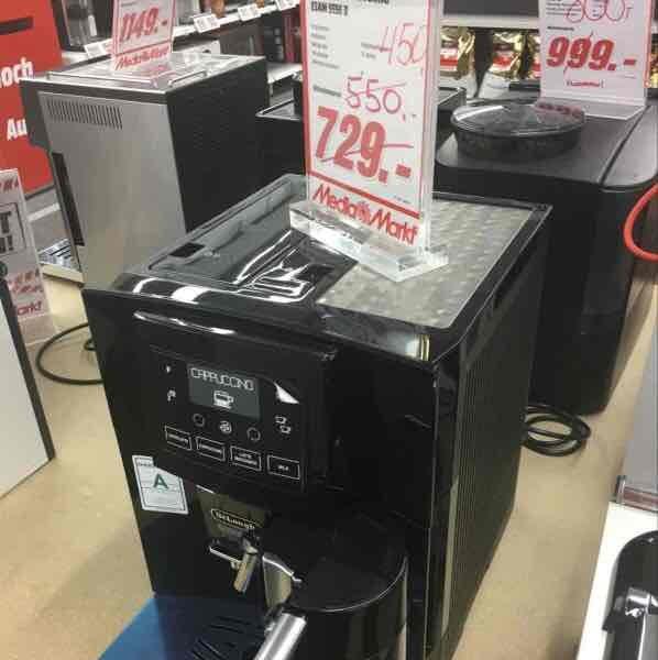 Lokal Media Markt Halstenbek , De Longhi 5556B Kaffeevollautomat für 450,- !