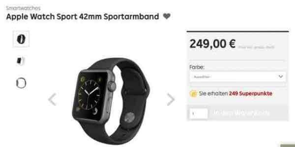 [Rakuten/asgoodasnew] Apple Watch 42mm silber o. spacegrau (wie neu)
