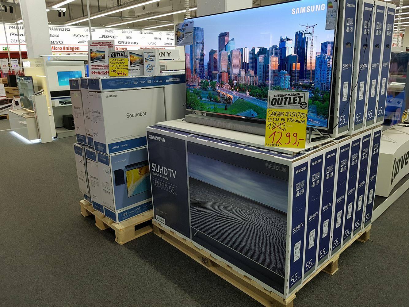 [Mediamarkt Nordhorn] Samsung UE55KS7090 1199,- statt 1899,- durch Angebotspreis und 100,- euro Cashback Smart TV Ultra HD Premium