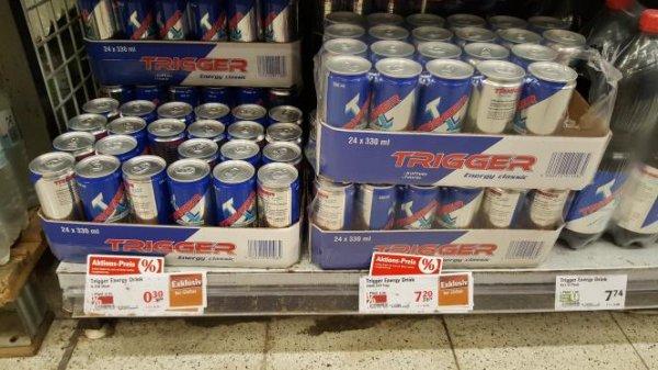 [lokal globus] Trigger energy drink 24er tray oder auch einzeln